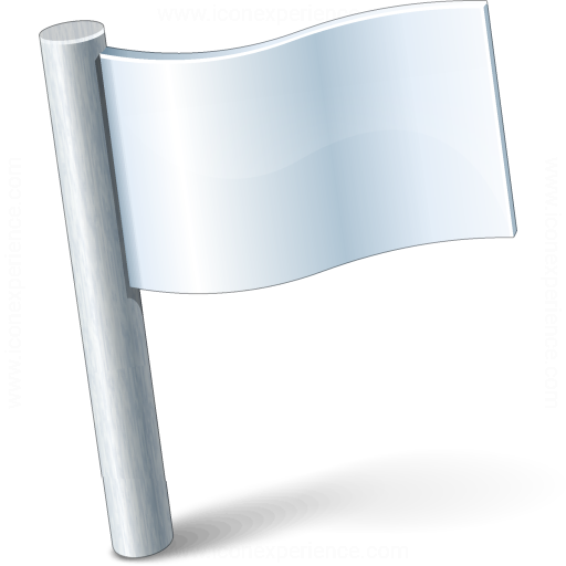 Signal Flag White Icon
