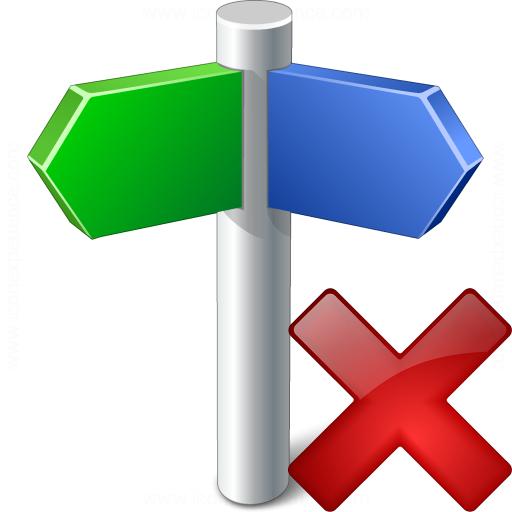 Signpost Delete Icon