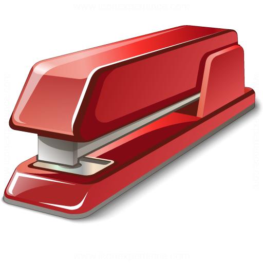 Stapler Red Icon