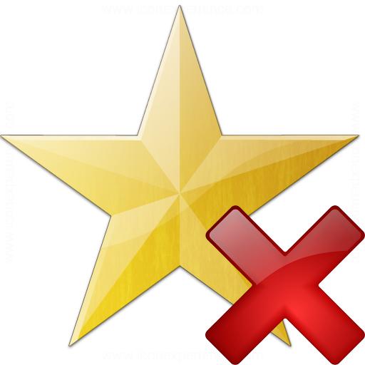 Star Yellow Delete Icon