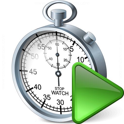 Stopwatch Run Icon