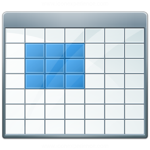 Table 2 Selection Block Icon