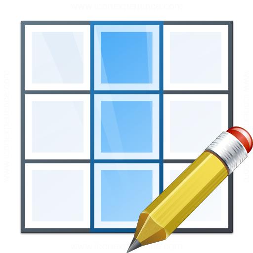 Table Column Edit Icon