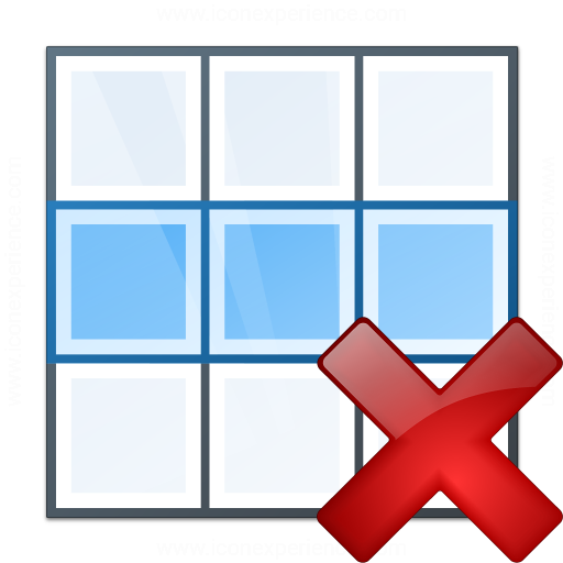 Table Row Delete Icon