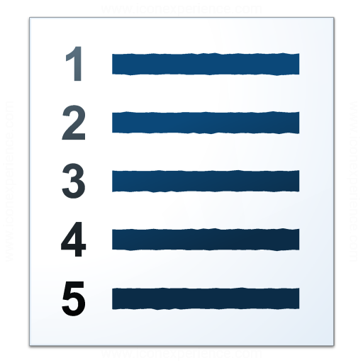 Text List Numbers Icon
