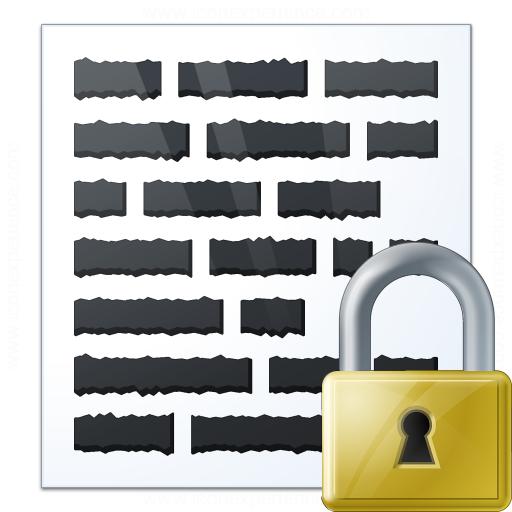 Text Lock Icon