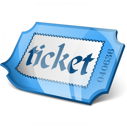 Ticket Blue Icon