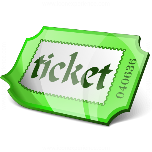 Ticket Green Icon