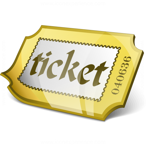 Ticket Yellow Icon
