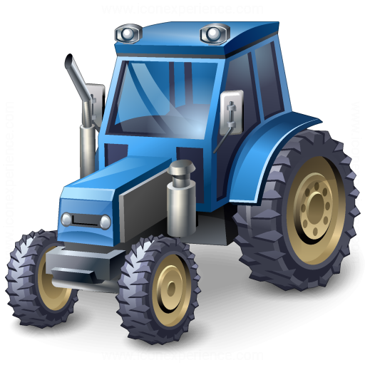 Tractor Blue Icon