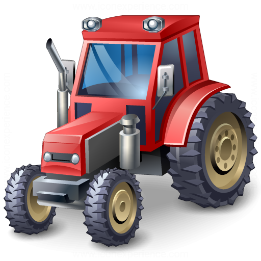 Tractor Red Icon