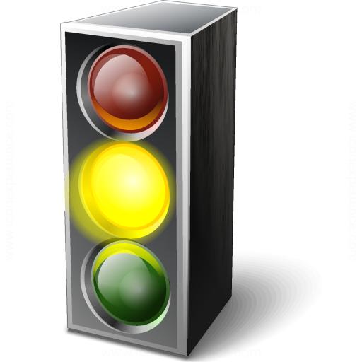 Trafficlight Yellow Icon