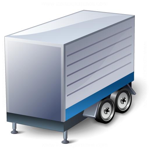 Truck Trailer Blue Icon