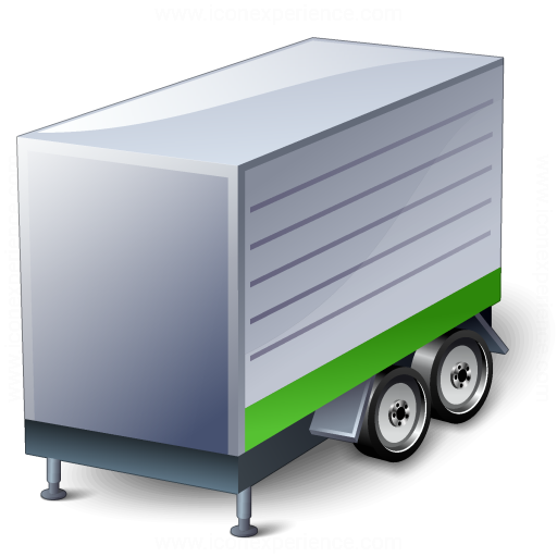 Truck Trailer Green Icon