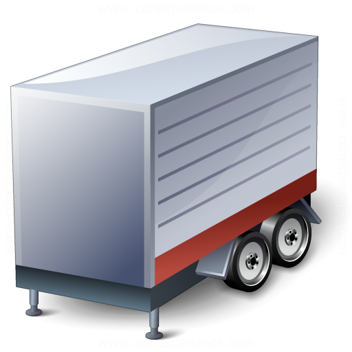 Truck Trailer Red Icon