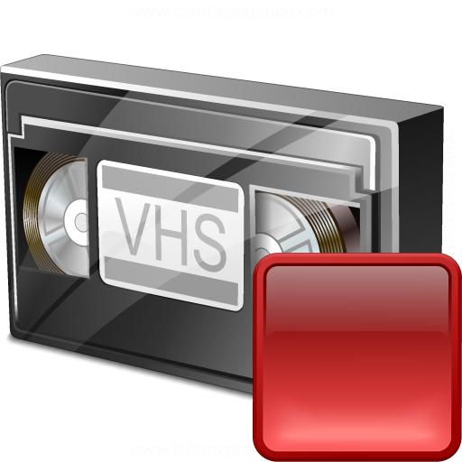Videotape Stop Icon
