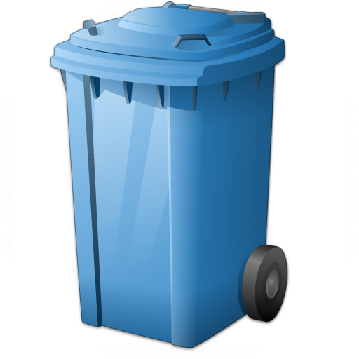 Waste Container Blue Icon