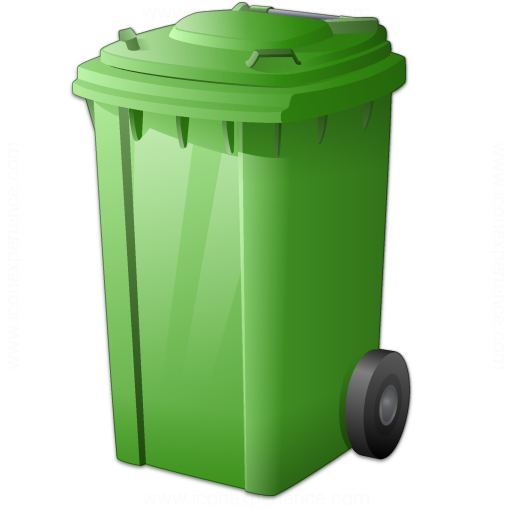 Waste Container Green Icon