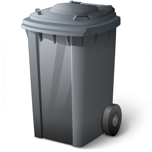 Waste Container Grey Icon