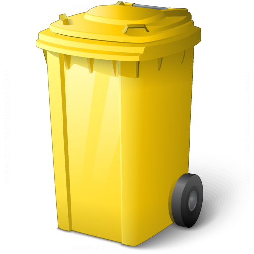 Waste Container Yellow Icon