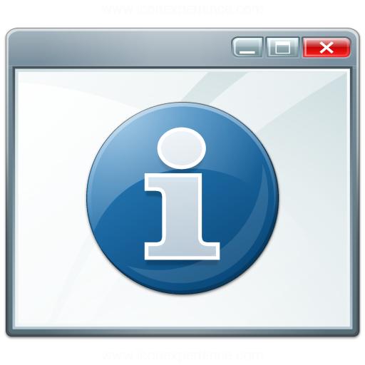 Window Information Icon