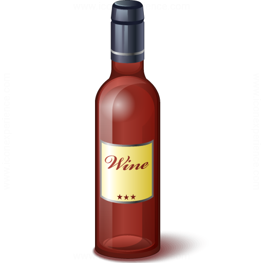 Wine Red Bottle Icon