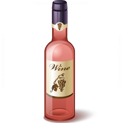 Wine Rose Bottle Icon
