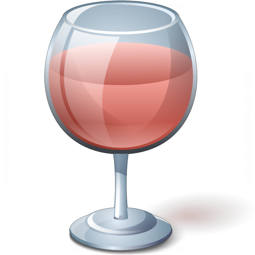 Wine Rose Glass Icon