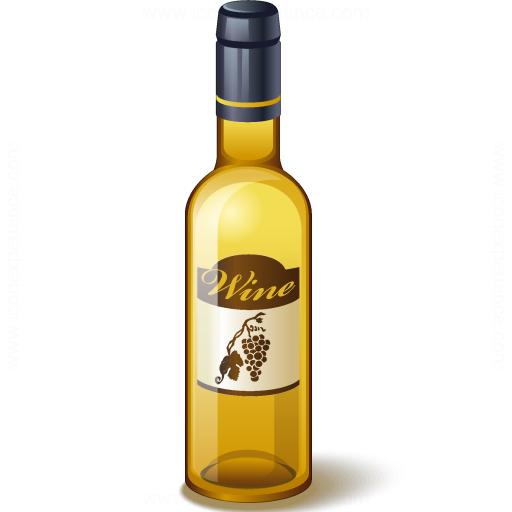 Wine White Bottle Icon