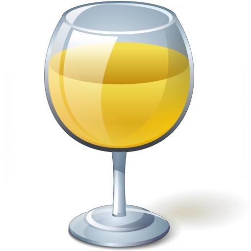 Wine White Glass Icon