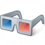 3d Glasses Icon 64x64