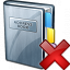 Address Book Delete Icon 64x64