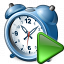 Alarmclock Run Icon 64x64
