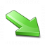 Arrow 2 Down Right Green Icon 64x64