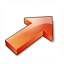 Arrow 2 Up Right Red Icon 64x64