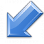 Arrow Down Left Blue Icon 64x64