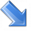 Arrow Down Right Blue Icon 64x64