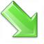 Arrow Down Right Green Icon 64x64