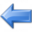 Arrow Left Blue Icon 64x64