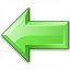 Arrow Left Green Icon 64x64