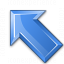 Arrow Up Left Blue Icon 64x64