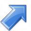 Arrow Up Right Blue Icon 64x64