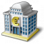 Bank House 2 Euro Icon 64x64