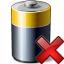 Battery Delete Icon 64x64