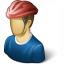Bicyclist Icon 64x64