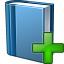Book Blue Add Icon 64x64