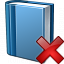 Book Blue Delete Icon 64x64