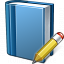 Book Blue Edit Icon 64x64