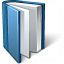 Book Blue Open Icon 64x64