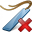 Bookmark Blue Delete Icon 64x64